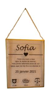 Hangende lijst - goud - Sofia