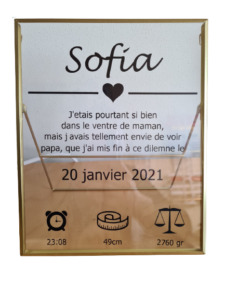 Staande lijst - goud - Sofia