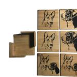 Bamboe houten onderzetters